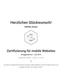 Google Zertifikat mobile Websites