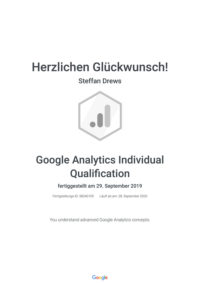 Google Zertifikat Analytics Individual Qualification
